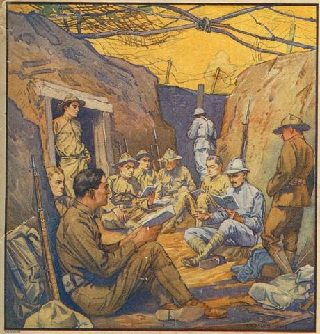 TO THE WESTERN FRONT (Illustration) American History Famous Historical Events Geography Medicine Social Studies World War I Disasters