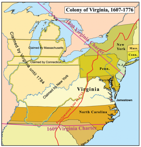 Colony of Virginia - 1607-1776 American History Social Studies Geography
