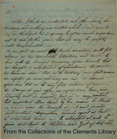 Benedict Arnold's Betrayal-Letter of May 10,