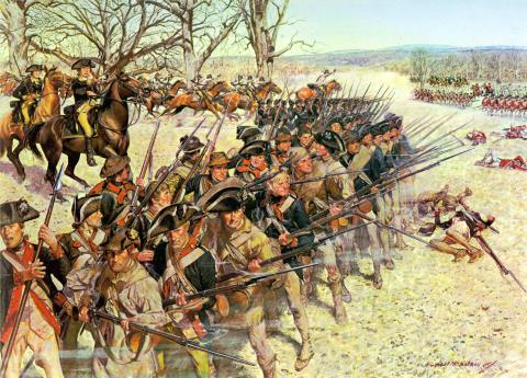 Battle of Guilford Courthouse - Painting and Story (Illustration) American History American Revolution Famous Historical Events Social Studies World History