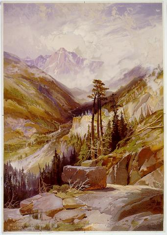 Mountain of the Holy Cross - by Thomas Moran Ethics Geography Social Studies Visual Arts