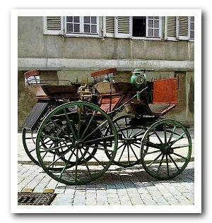 Wilhelm Wimpff & Sohn Stagecoach built the first four-wheeled automobile in 1886
