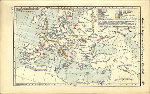 Germanic Migrations and Conquests - Roman Empire Ancient Places and/or Civilizations World History Geography