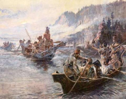 LEWIS and CLARK (Illustration) Legends and Legendary People American History Famous Historical Events Famous People Geography Film