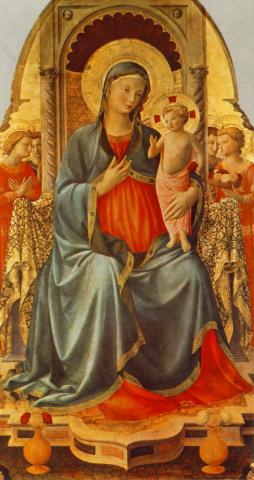 Madonna with the Child and Angels - by Fra Angelico Philosophy Visual Arts