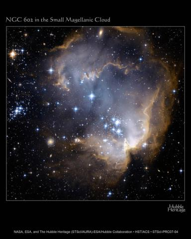 NGC 602 in the Small Magellanic Cloud Aviation & Space Exploration STEM Visual Arts Astronomy