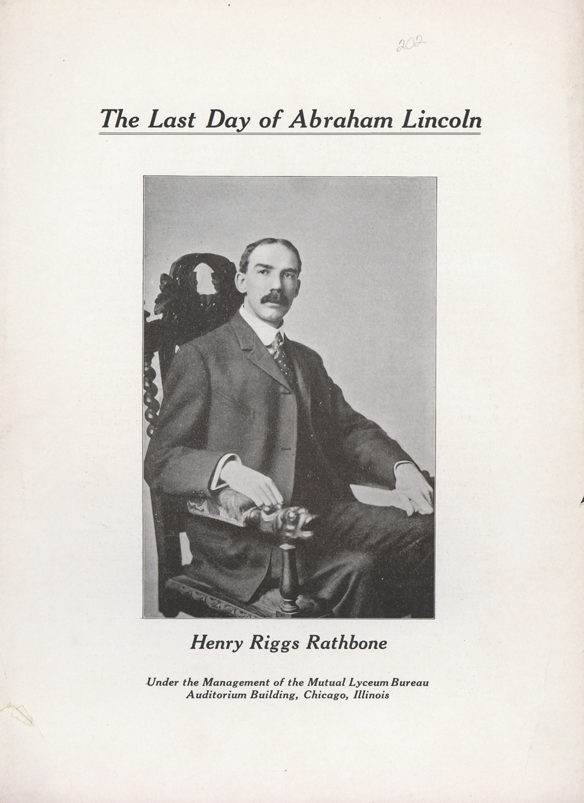 The Last Day of Abraham Lincoln - by Henry Riggs Rathbone