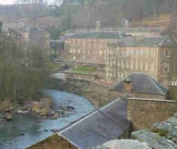 Lanark, Scotland a village built around textile mills at the River Clyde