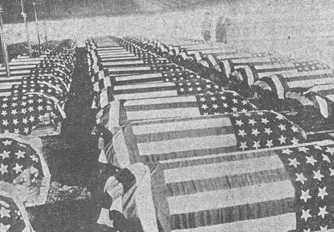 Lined-up Coffins - Palawan Massacre American History Famous Historical Events Social Studies World History World War II Visual Arts
