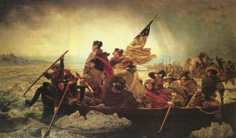 Washington Crosses the Delaware - Painting and Story (Illustration) American History American Presidents American Revolution Famous Historical Events Tragedies and Triumphs