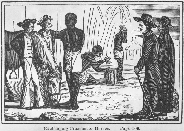 Slavery - Exchange People for Horses African American History Slaves and Slave Owners Visual Arts