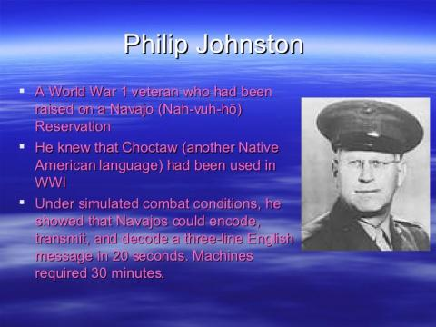 Philip Johnston and His Ideas about a Navajo-Language Code World War II American History Famous People Law and Politics