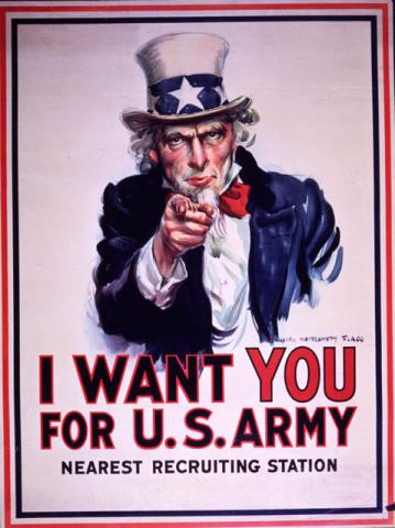 Uncle Sam Recruiting Poster History Social Studies World History World War I Visual Arts