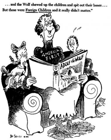 Don't Ask for Ours - Dr. Seuss Cartoon American History Government Social Studies Visual Arts