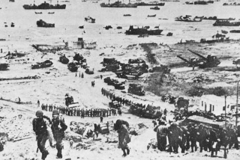 D-Day - Omaha Beach Reinforcements Famous Historical Events Visual Arts World War II