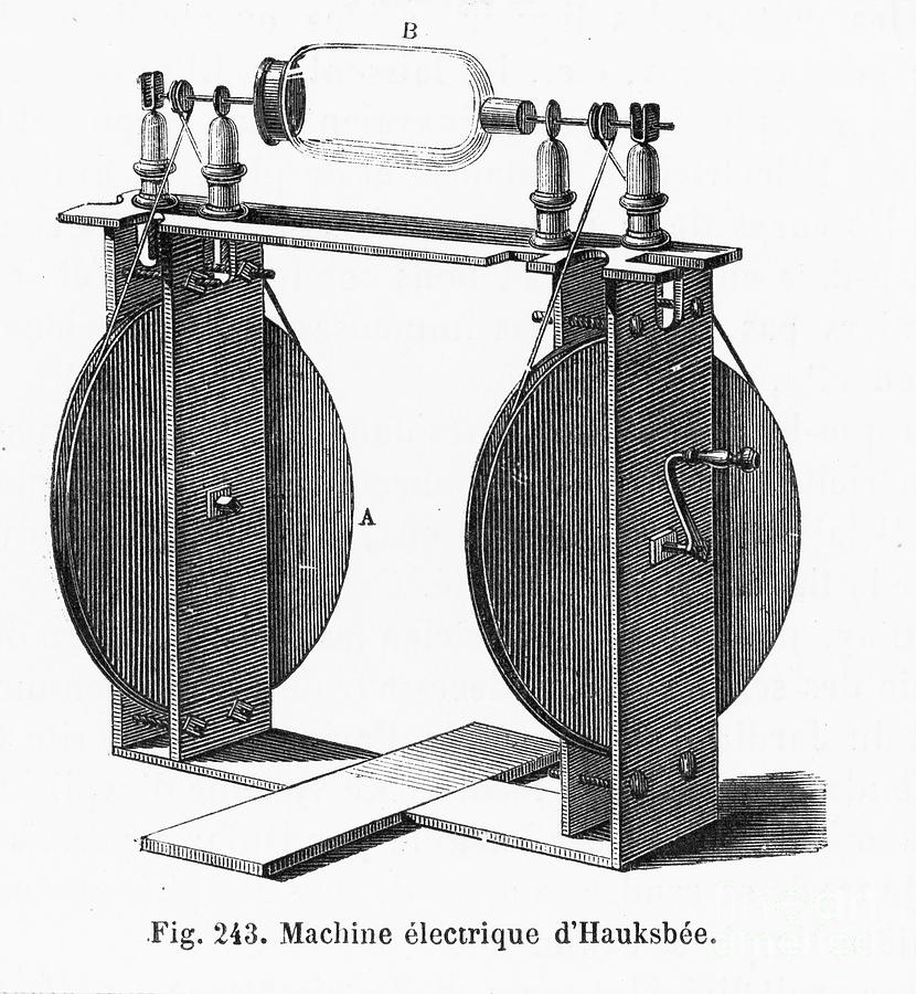 Hauksbee Electrostatic Generator and Neon Light