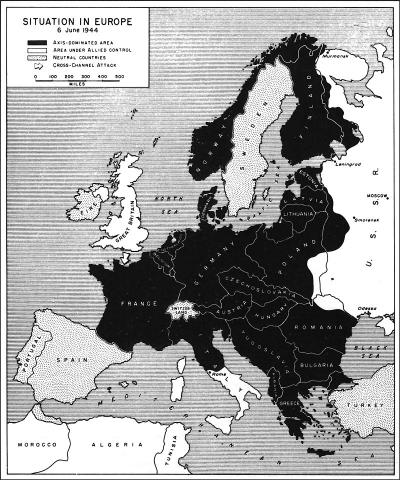 Situation in Europe - June 6, 1944 Famous Historical Events Geography World War II Visual Arts