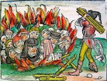 Accused of Spreading Plague - Jews Burned in a Pit