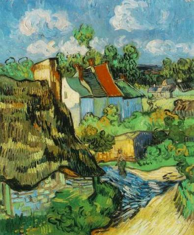Houses in Auvers - van Gogh Painting Visual Arts Famous People Social Studies Tragedies and Triumphs Nineteenth Century Life