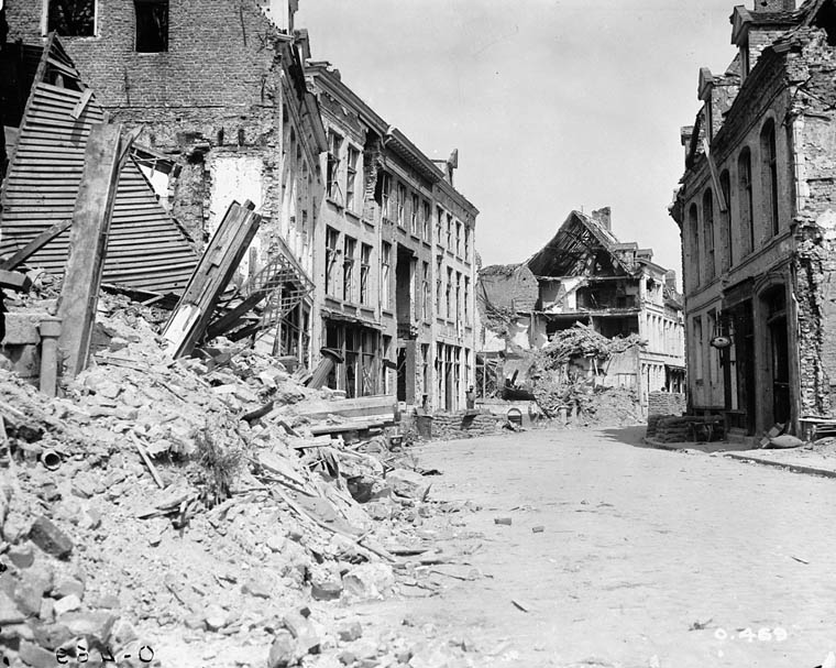 Ypres - Street Scene July 1916 Famous Historical Events World History World War I