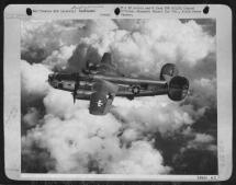 #1 Engine Fire - B-24 Just Before Fatal Explosion