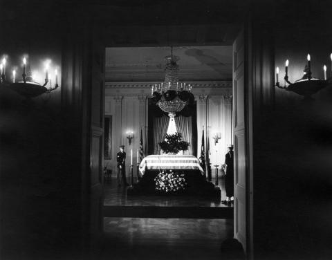 JFK's Coffin at the White House American History Government The Kennedys Assassinations American Presidents