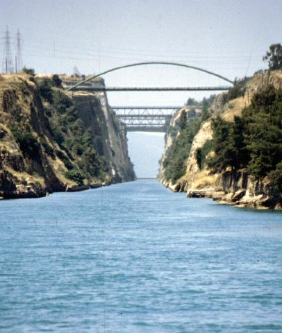 Corinthian Canal Cutting Through Isthmus of Corinth Social Studies Tragedies and Triumphs Geography Ancient Places and/or Civilizations