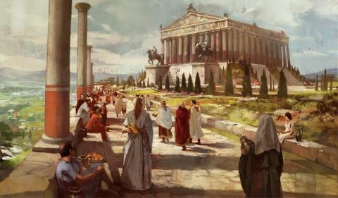 Wonders of the Ancient World - Arson at the Temple of Artemis (Illustration) Ancient Places and/or Civilizations Archeological Wonders Visual Arts Philosophy