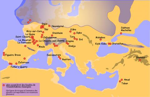 Neanderthals Locator Map
