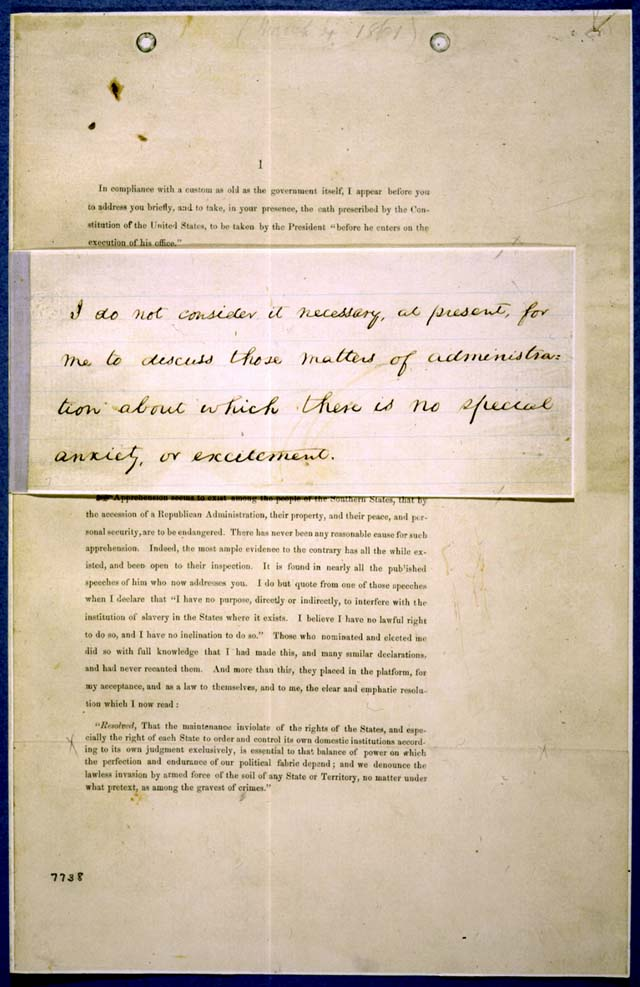 an analysis of abraham lincolns second inaugural address Ronald c white, jr, lincoln's greatest speech: the second inaugural   douglass was an astute observer of the meaning of both the event and the  address.