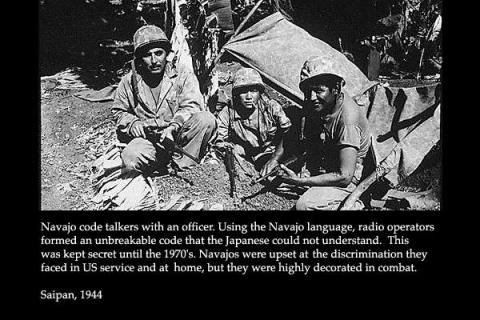 Navajo Code Talkers - Effective in Saipan American History Native-Americans and First Peoples  World War II Tragedies and Triumphs