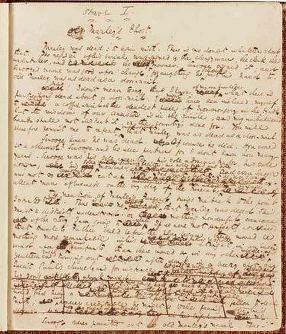 a christmas carol original manuscript fiction - Original Christmas Carol