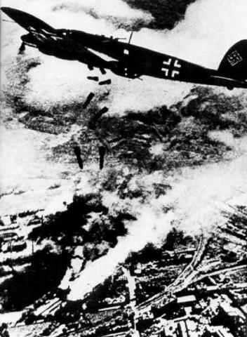 German Plane Bombing Warsaw - September, 1939 Disasters Famous Historical Events Tragedies and Triumphs World War II