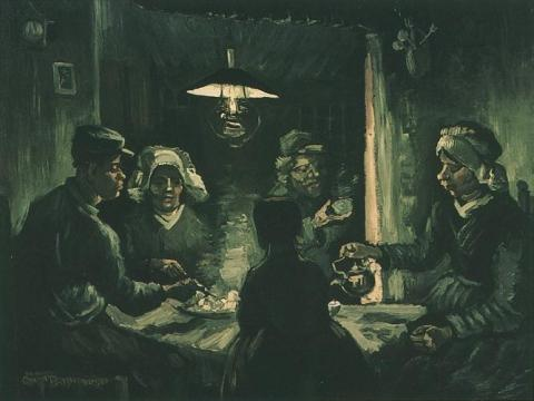 The Potato Eaters - An Early Version Social Studies Visual Arts Nineteenth Century Life Tragedies and Triumphs