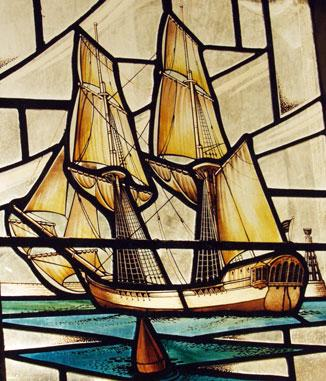 Window at Olney Church - Ship at Safe Harbor  Famous Historical Events Slaves and Slave Owners Social Studies Visual Arts World History Poetry