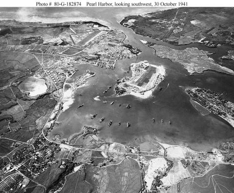 Pearl Harbor - Aerial View and Background Before War American History Famous Historical Events Film Government Social Studies Visual Arts World War II Ethics