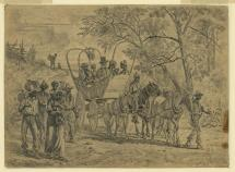 African-American Escapees Approach Union Lines