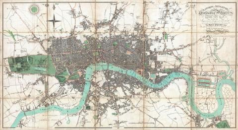 Map of London in the Early 19th Century Nineteenth Century Life Geography