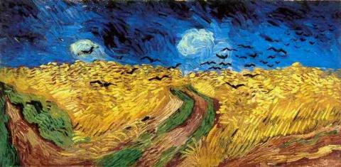 van Gogh Painting - Wheat Field with Crows Biographies Famous People History Social Studies Visual Arts Philosophy