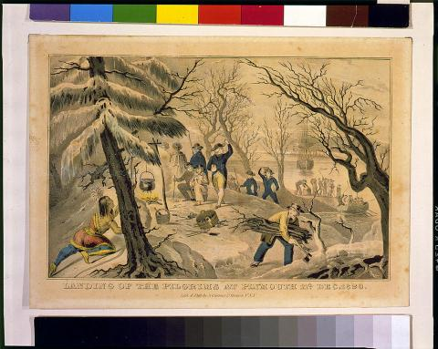 Plymouth - Pilgrims Clearing Land American History Famous People Social Studies Visual Arts