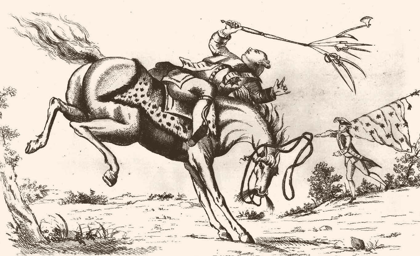 The Horse America, Throwing His Master  1779 Cartoon (illustration) Visual  Arts Famous