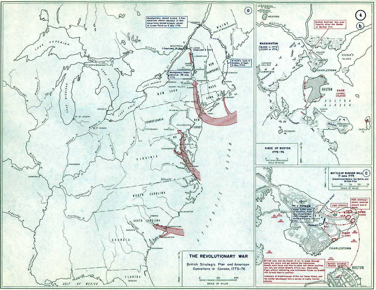 Of Boston Annotated Map From USMA - Us map that can be annotated