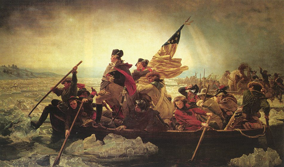 washington crosses the delaware painting and story