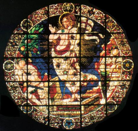 STAINED GLASS in ITALY (Illustration) Geography Medieval Times Philosophy Visual Arts