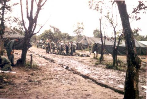 An Khe Base - Vietnam War American History Geography Visual Arts