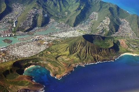 Aerial View of Oahu American History Social Studies World War II Geography