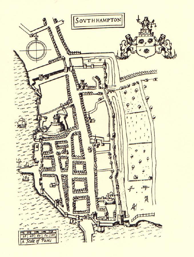 Pilgrims Journey Southampton Map
