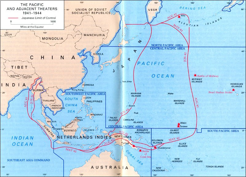 The pacific theater map the pacific theater map american history geography social studies world war ii gumiabroncs Image collections