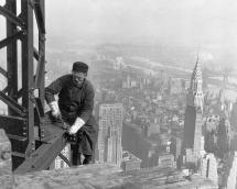 Worker on the Framework of the Empire State Building