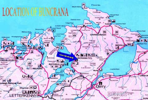 Map Depicting Buncrana Famous Historical Events Famous People Geography Tragedies and Triumphs World History Disasters